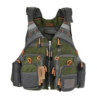 Fishing Apparel Amicable Fly Fishing Vest Adjustable Mesh Mutil-pocket Outdoor Sport Life Safety Jacket Swimming Sail For Fishing Clothes