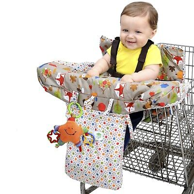 Jeep 2-in-1 Shopping Cart Cover High Chair Cover, High Chair Cushion, Baby Gr...