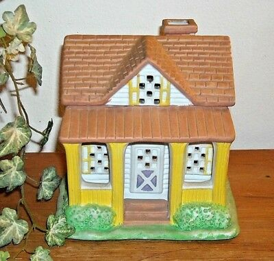 Vintage PartyLite Lemon Drop Inn House Tealight Candle Holder #P0599
