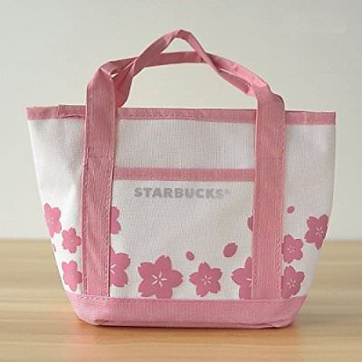 Starbucks Coffee Sakura Cherry Blossom Small Tote Bag Lunch Office NEW US-Seller