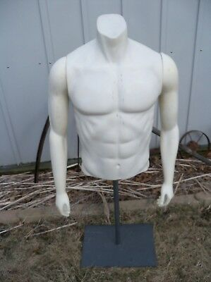 Fusion Specialties Used Mannequin Male Torso Magnetic Arms w base Nike