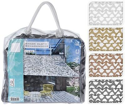 Garden Sun Shade Sail Canopy Camouflage Patio Cloth Awning Shelter - 2 Sizes