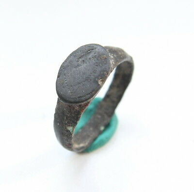 Ancient Old Viking Ornament Bronze Ring (OCR11)