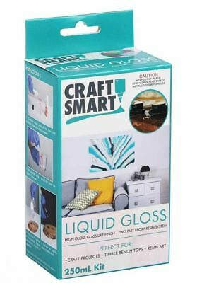 Liquid Gloss, 2 part epoxy resin, dries crystal clear,  2 x250ml, (500ml