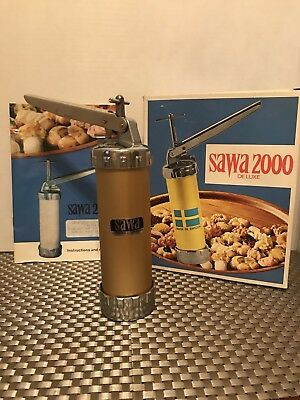Vintage Sawa 2000 Deluxe Cookie Made In Sweden Press In Box Only