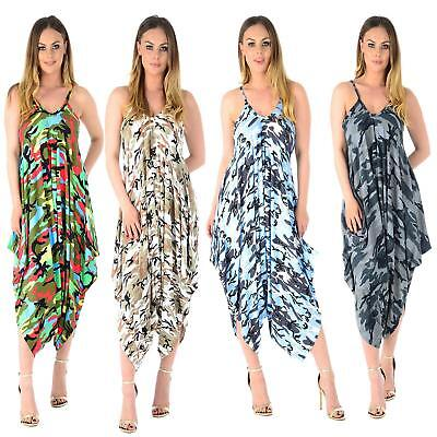 Women Plus Size Cami Dress Lagenlook Romper Baggy Harem Jumpsuit Ladies Playsuit