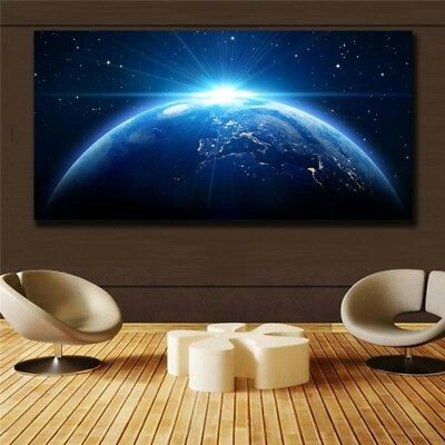 beautiful earth HD print on canvas huge wall picture (31x63)