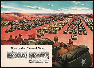 Vintage magazine ad DODGE Three Hundred Thousand Strong 1944 army WWII vehicles