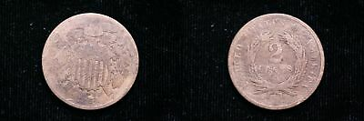 1864  Small Motto Two Cent Piece