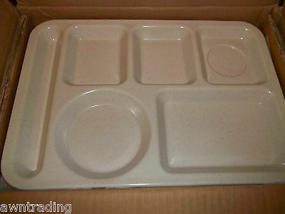 (CASE OF 12) Carlisle 43980-70 Lunch Cafeteria Trays*ADOBE* NEW IN BOX