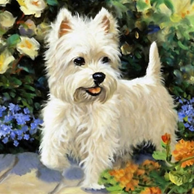 "Diamond Painting - Diamant Malerei - Stickerei - ""Hund"" - Set - Neu (482)"