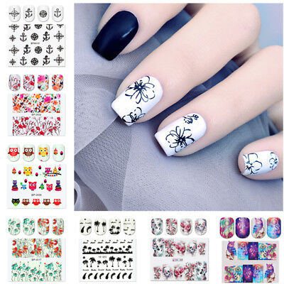 2Sheets Nail Water Decals Nail Art Stickers Flamingo Manicure Nail Art Transfer