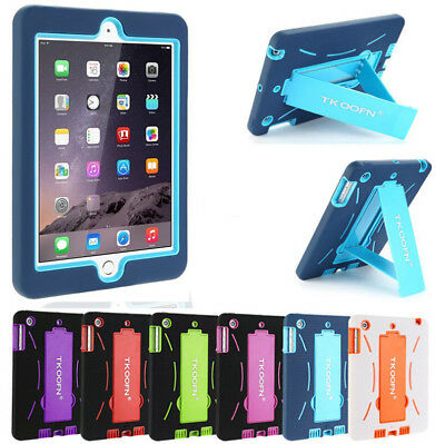 "Kids Heavy Duty Anti-shock Stand Case Cover For iPad 4 3 2 & Mini &2018 9.7"" UK"