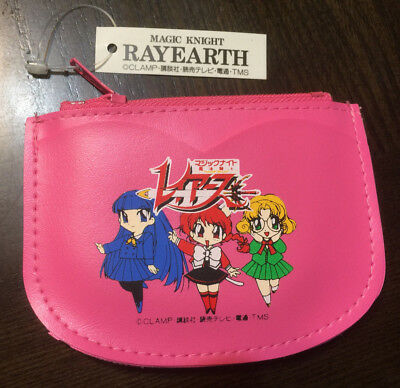 Magic Knight Rayearth Clamp Coin Purse Wallet Japan Import Original 1995 Pink!