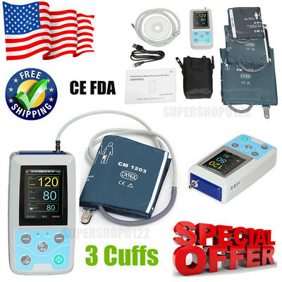 US seller ABPM50 Ambulatory Blood Pressure Monitor 24h NIBP Holter+Software FDA
