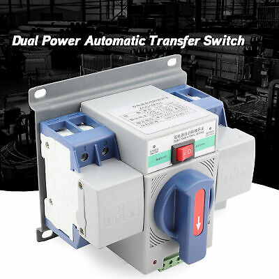 2P 63A 220V Dual Power Automatic Transfer Switch ATS