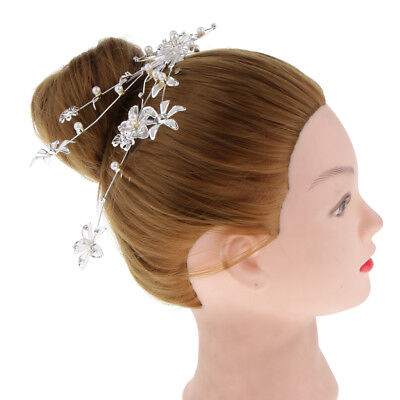 Fashion Flower Hair Pieces with Comb Clips Wedding Banquet Party Headwear
