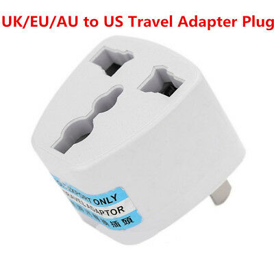 Universal EU UK AU to US USA AC Power Adapter Travel Plug Converter 2 Flat Pin