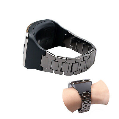 Stainless Bracelet Wristband Strap W/ Holder For Samsung Galaxy Gear S SM-R750