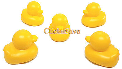 Pack Of 5 Floating Ducks Kids Baby Bath Time Fun Toys Duck Race Ducky