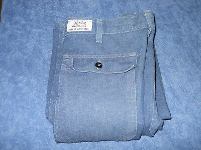 32x32 Steel Grip Westex FR-8 Fire Resistant Pants blue jeans made in USA unused