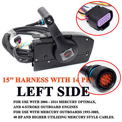 Trig Left Side 14-Pin Mercury Outboard Engine Mount Remote Control Box