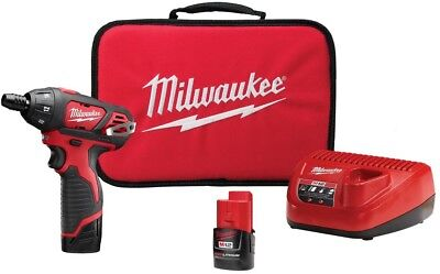 Milwaukee Screwdriver Kit Cordless 12-Volt Lithium-Ion 1/4 in. Hex Keyless Chuck