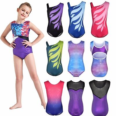 New Style Fairy Girls Kids Rinestone Gymnastics Ballet Dancewear Leotards 4-16Y