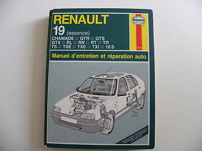 revue technique automobile RTA manuel HAYNES RENAULT 19 essence n°1833