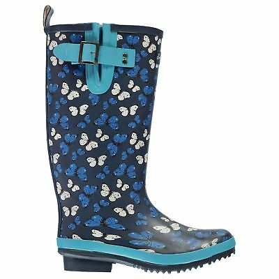 Briers Butterfly Wellington Boots Ladies Wellingtons Water Repellent Buckle