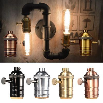 E27 Screw Bulb Base Edison Aluminum Retro Industrial Lamp Holder Socket Fittings