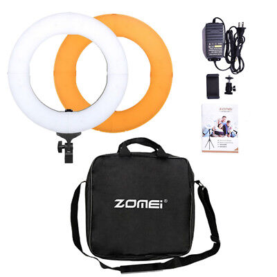 Zomei 18inch LED Ring Light Dimmable Continuous Lighting Kit Video Camera Studio