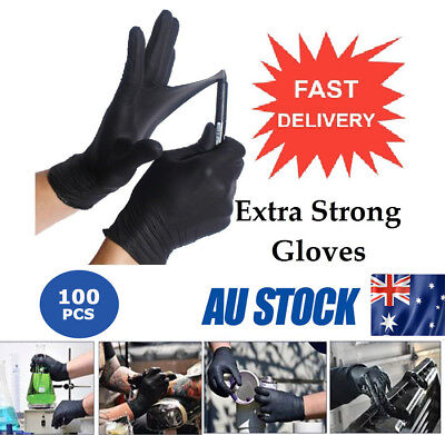 100PCS Disposable Mechanic Gloves Black Nitrile Gloves Tattoo Glove Silicone CSS