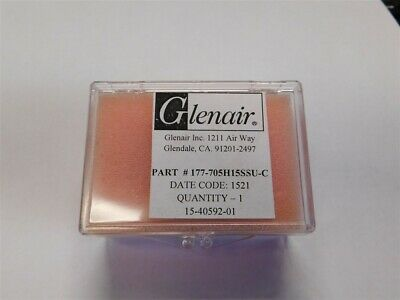 Glenair 177-705H15SSU-C 15P Solder Cup Micro-D Hermetic Connector Rear Panel Mt.
