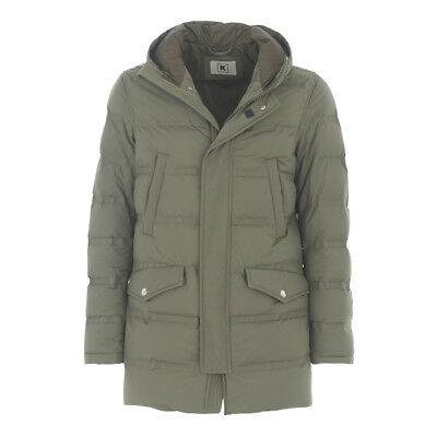 KIRED by Kiton REUSS Green Goose Down Parka Coat S-M 38US 48EU Made in Italy