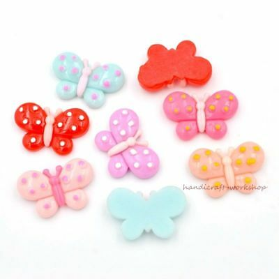 16Pcs Butterfly Resin Buttons Flatback Buttons Crafts Decor Scrapbooks Accessory