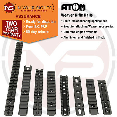 Rifle weaver rails / Picatinny rail for shooting applications/ 8 different sizes