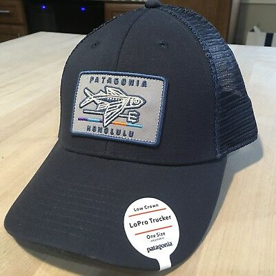 Patagonia Geodesic Flying Fish Patch Trucker Hat New With Tags - Honolulu -  Navy 018ee07c13e
