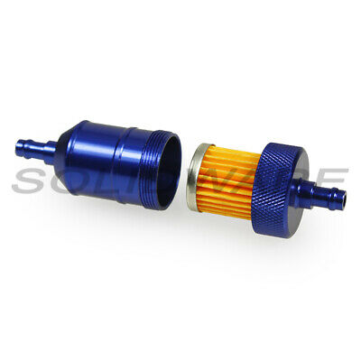 Benzinfilter Ø 7mm blau Alu Cross Tuning Racing Motorrad Leitungsfilter Moped