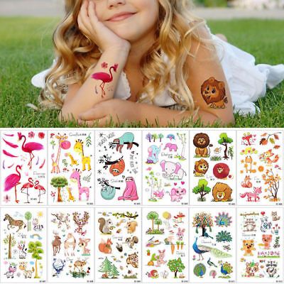 Kinder Cartoon Einmal-Tattoos Temporary Tattoo Temporäre Körper Aufkleber FS