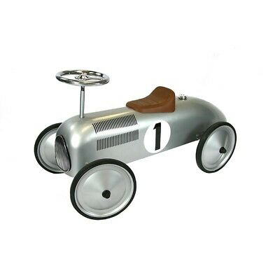 Great Gizmos Retro Racer Sit n Ride Car Silver Sit on Car Age 1-3 Years
