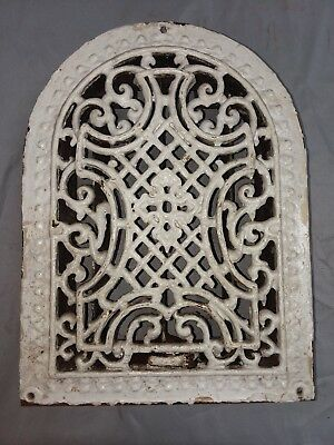 Antique Cast Iron Arch Top Dome Heat Grate Wall Register Vintage 93-18F