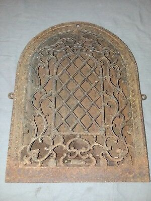 Antique Cast Iron Arch Top Dome Heat Grate Wall Register  Vtg 94-18F