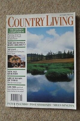 Country Living Oct 90 - Borrowdale, Sissinghurst, Mulberry Bags, Wild Boar.