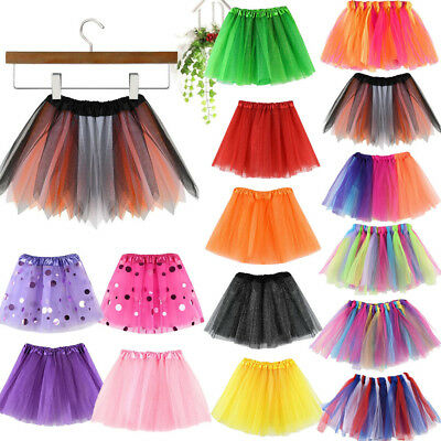 Girls Kids Baby Dance Fluffy Tutu Skirt Pettiskirt Ballet Fancy Costume Dress