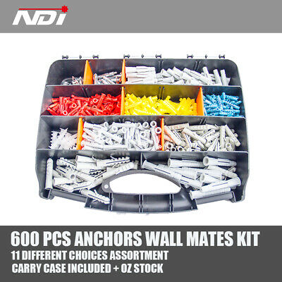 1000 x Nylon Anchors Screws 13mm x 42mm Wall Mates For Plaster Board ND-0903