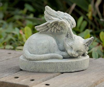 Cat Angel Pet Memorial Stone Grave Marker Headstone
