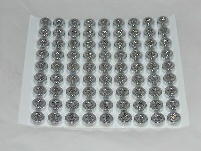"1 Sheet Of 81 Pieces 1/2"" Dia Head Stick-On Style Dummy Chrome Wheel Rim Rivet"