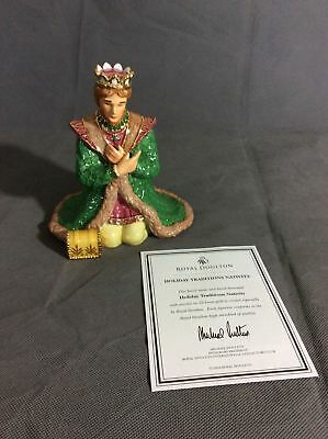 Royal Doulton Holiday Traditions Nativity  Gaspar Figure New pr