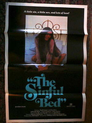 The Sinful Bed Sexploitation 1 Sheet Movie Poster 1970's Unused